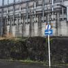 三島駅の新幹線高架も