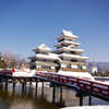 国宝5城の一つ松本城