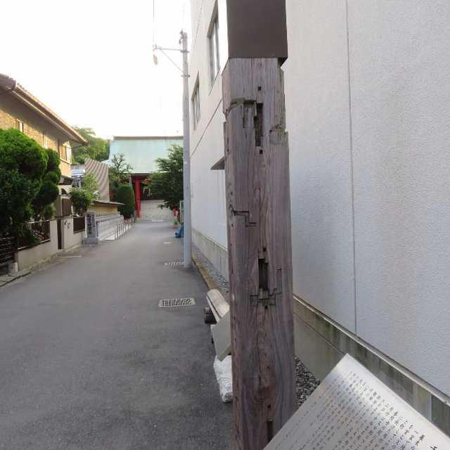 旧松戸宿本陣の大黒柱