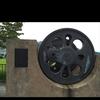 新野駅の記念碑である