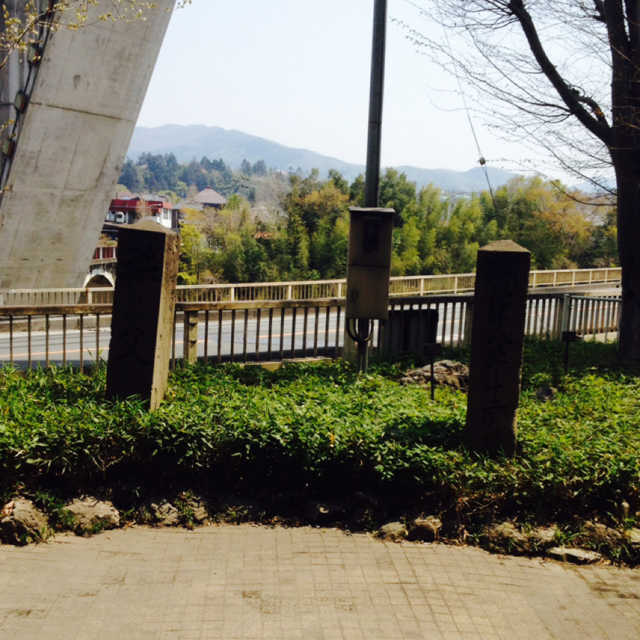 初代秩父橋の親柱