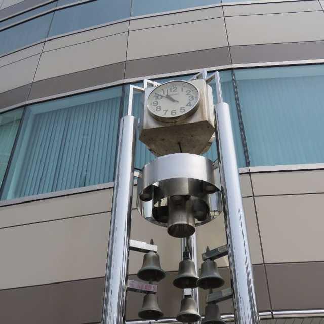 鍛冶町交差点の時計塔