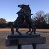 馬の像「飛翔」