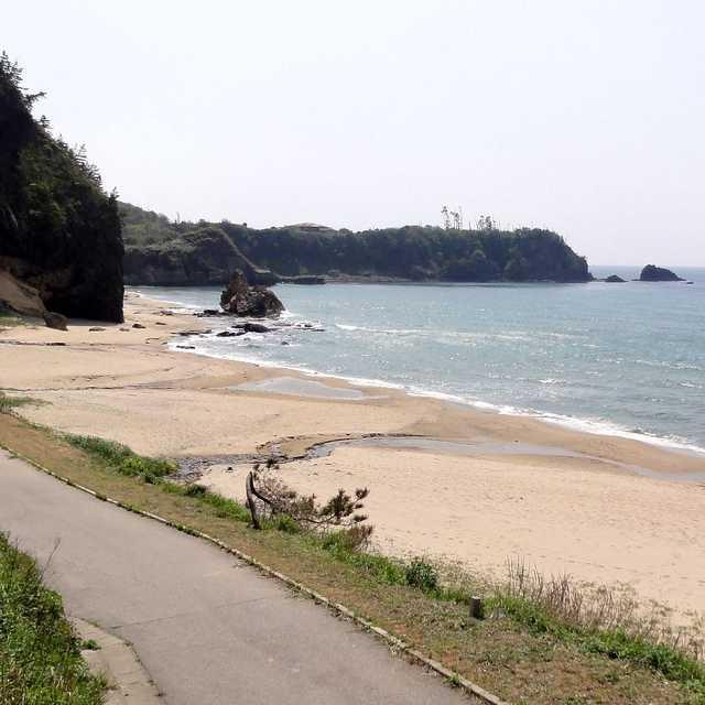 琴ヶ浜の鳴き砂