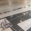 江戸時代のお屋敷の図面が刻まれた床
