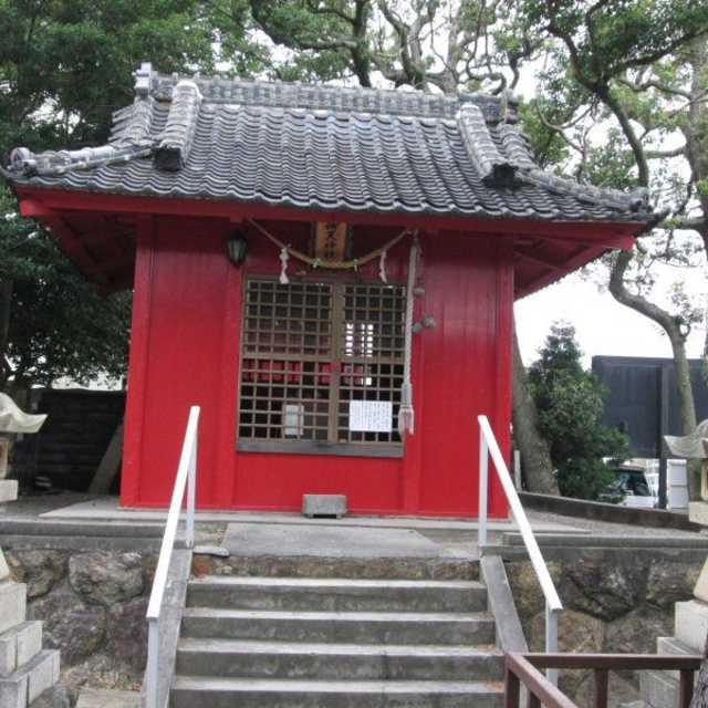 弁天神社の文学碑