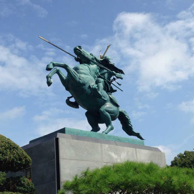 最上義光公勇戦の像