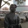 静岡駅北口広場の竹千代君像