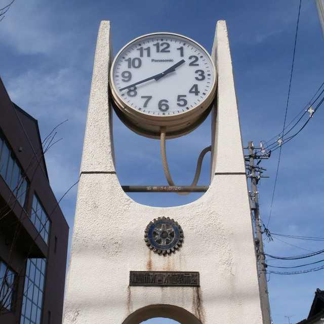 輪島市水害水位表示塔