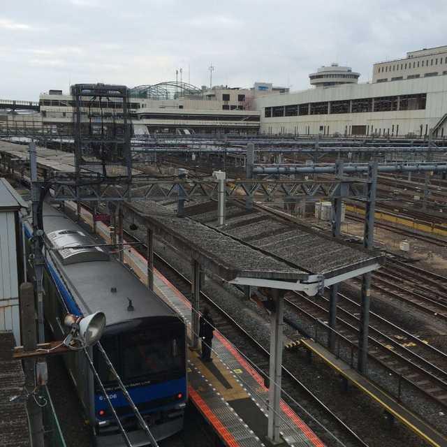 大栄橋と鉄道のある風景