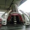 江戸東京博物館常設展示室へのエスカレーター
