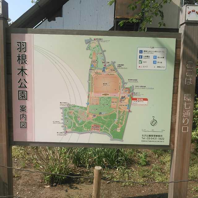 羽根木公園案内図 環七通りロ