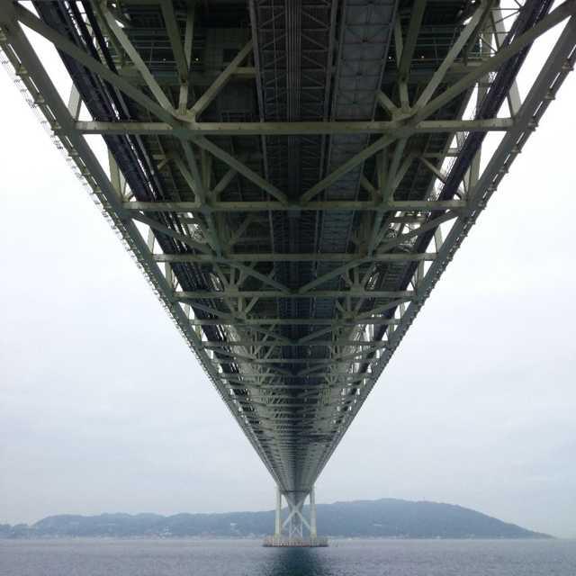 明石海峡大橋の裏側