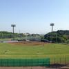 田んぼの中の野球場