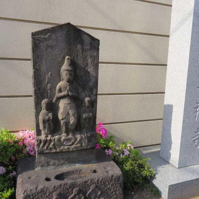 善福寺前の庚申塔
