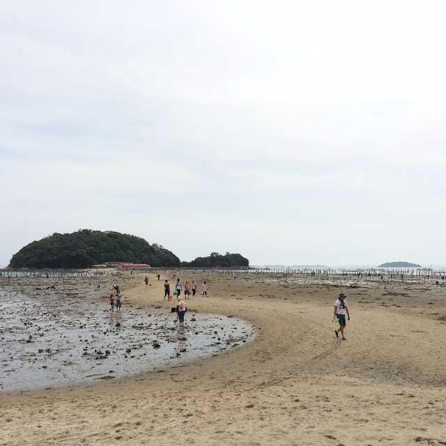 無人島へ渡る道(トンボロ)