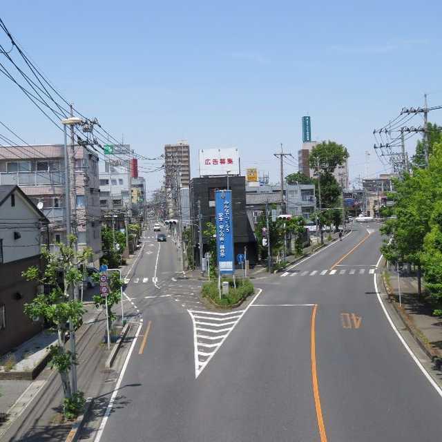旧日光街道は左の道