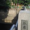 川の両側にある公園を