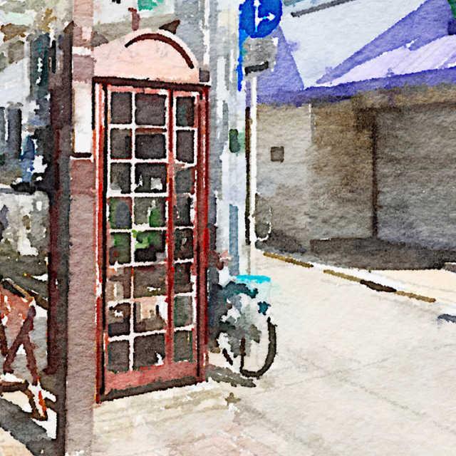 レトロな電話ボックス