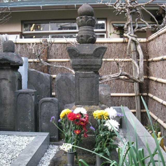 北条氏家臣の妻の墓