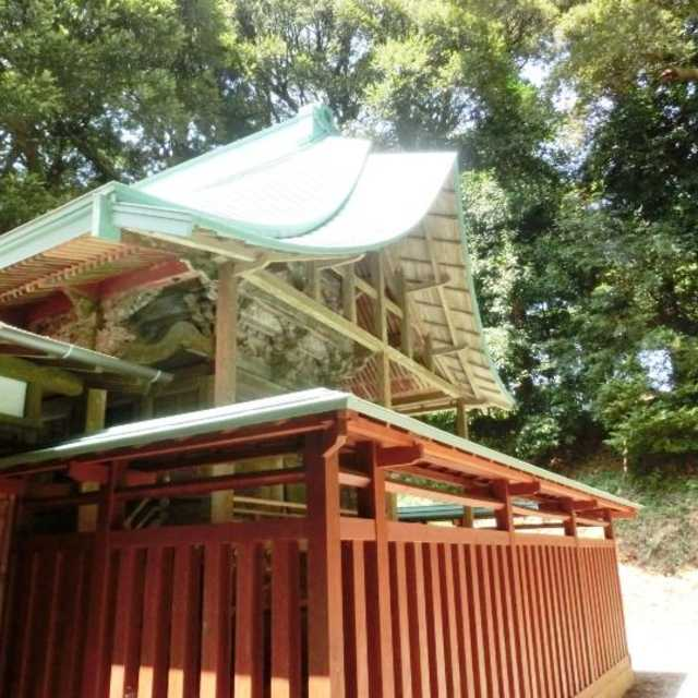鏑木八幡神社の本殿(裏にあります)