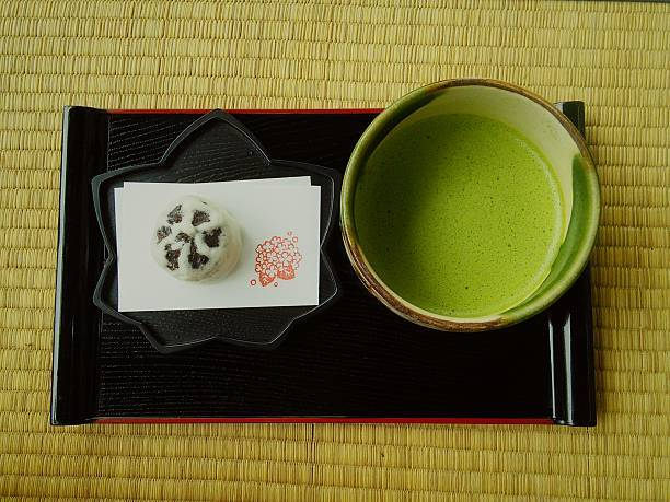 Close-Up Of Matcha Tea On T...