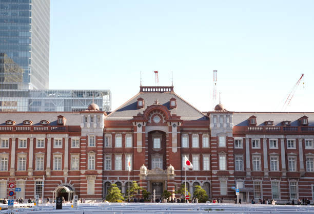 The red-brick Tokyo station