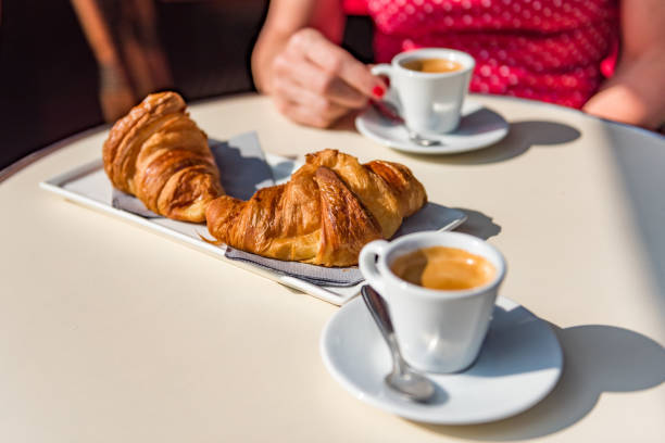 Croissants and coffee - a t...