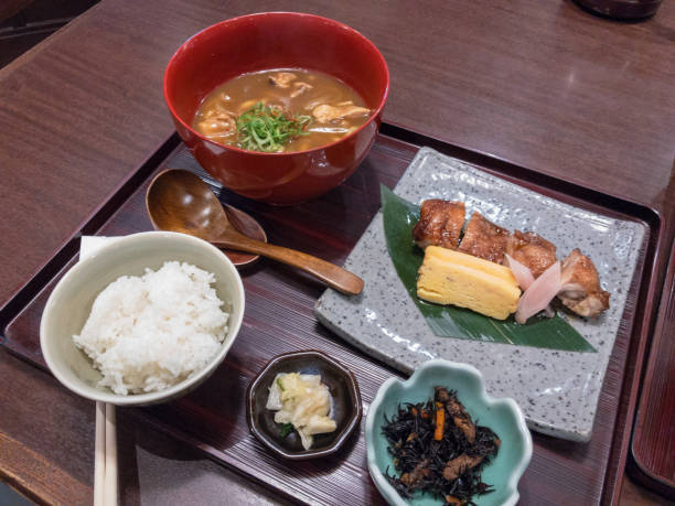 Curry Udon set meal for lunch