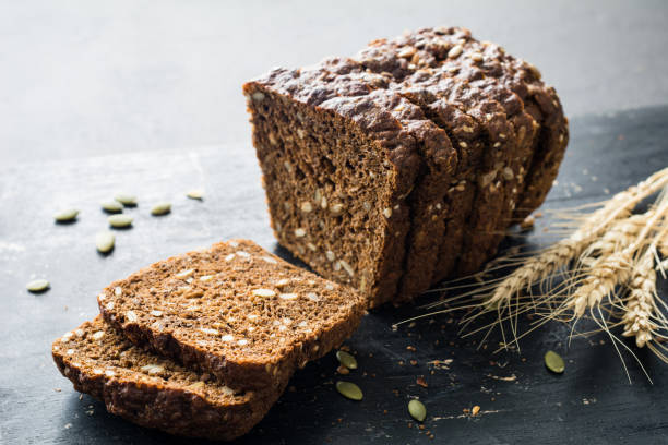 Whole grain rye bread with ...