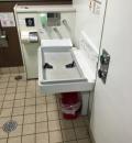 青砥駅(1階 多目的トイレ)のオムツ替え台情報