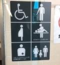 JR大磯駅(1F 多機能トイレ)のオムツ替え台情報