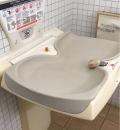 東松戸ゆいの花公園 マグノリアハウス横 多機能トイレ内(1F)のオムツ替え台情報