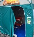 幸手観光協会(プレハブ小屋)の隣のテントの授乳室・オムツ替え台情報