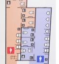 大門駅(地下1階 都営大江戸線改札内多目的トイレ)のオムツ替え台情報