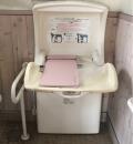 柏原診療所近くの公衆トイレ(1F)のオムツ替え台情報