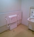ヨークマート小豆沢店内 多機能トイレのオムツ替え台情報