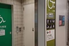JR新宿駅 ミライナタワー・甲州街道・新南改札内多目的トイレ(2F)のオムツ替え台情報