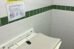 清水ケ丘公園体育館(多目的トイレ内にオムツ替え台有り。使用する際は受け付けに声をかけて鍵を開けてもらう。)のオムツ替え台情報