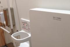 パルコヤ上野店(3F女性トイレの1番奥のトイレ)のオムツ替え台情報
