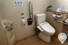 サニー那の川店(1F 多目的トイレ内)のオムツ替え台情報
