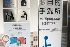 葛西駅駅前ロータリー 多目的トイレ(1F)のオムツ替え台情報