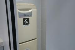 みらい平駅前公衆トイレ(1F 女性トイレ)のオムツ替え台情報