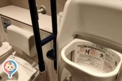 THE BLOSSOM HAKATA Premier (ザ ブラッサム 博多プレミア)  多目的トイレ内(3F)のオムツ替え台情報