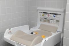 ライフ御所店(1階 多目的トイレ)のオムツ替え台情報