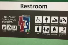 新橋駅(1F 多目的トイレ)のオムツ替え台情報