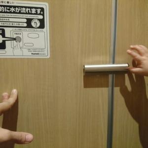授乳室最寄のトイレにはベヒーキープがありますが、ヒヤヒヤする位置関係です。