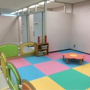 授乳室の前に、プレイマットが敷き詰められてます。
