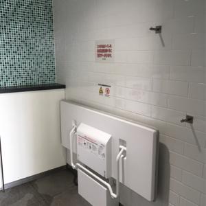 東中神駅(南口エレベーター下誰でもトイレ)のオムツ替え台情報 画像1