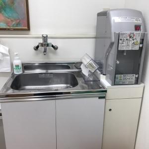 ミルク用のお湯と手洗い場